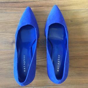 Metaphor Electric Blue Heels - Size 9